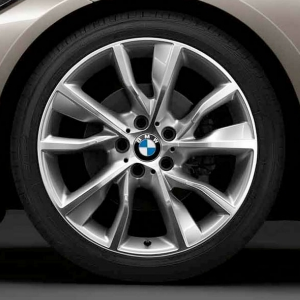BMW Alufelge Turbinenstyling 402 bicolor (silber/glanzgedreht) 8,5J x 19 ET 47 Hinterachse 3er F30 F31 4er F32 F33 F36