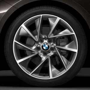 BMW Alufelge Turbinenstyling 457 glanzgedreht 8,5J x 20 ET 25 Vorderachse 5er F07 7er F01 F02 F04