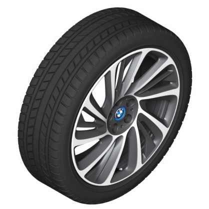 BMW Alufelge Turbinenstyling 625 bicolor (schwarz / glanzgedreht) 8,5J x 20 ET 50 Hinterachse linke Fahrzeugseite i8