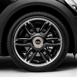 MINI Alufelge Twin Spoke 128 7J x 17 ET 48 Schwarz Vorderachse / Hinterachse MINI Clubman R55 MINI R56 MINI Cabrio R57 MINI Coupe R58 MINI Roadster R59