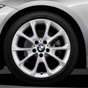 BMW Alufelge V-Speiche 398 8,5J x 18 ET 47 Silber Hinterachse BMW 3er F30 F31 4er F32 F33 F36