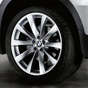 BMW Alufelge V-Speiche 239 10J x 21 ET 40 Silber Vorderachse BMW X5 E70