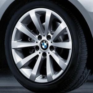 BMW Alufelge V-Speiche 285 8J x 17 ET 34 Silber Vorderachse / Hinterachse BMW 3er E90 E91 E92 E93