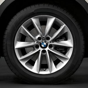 BMW Alufelge V-Speiche 307 8J x 18 ET 43 Silber Vorderachse / Hinterachse BMW X3 F25 X4 F26