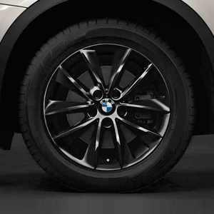 BMW Winterkompletträder V-Speiche 307 schwarz 18 Zoll X3 F25 X4 F26 RDC LC