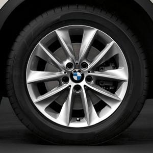 BMW Winterkompletträder V-Speiche 307 silber 18 Zoll X3 F25 X4 F26 RDC LC