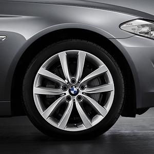 BMW Kompletträder V-Speiche 331 silber 19 Zoll 5er F10 6er F06 F12 F13 RDC LC