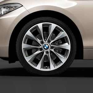 BMW Alufelge V-Speiche 387 bicolor (ferricgrey / glanzgedreht) 7,5J x 18 ET 45 Vorderachse 1er F20 F21 2er F22 F23
