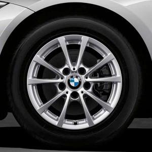 BMW Kompletträder V-Speiche 390 16 Zoll Silber 3er F30 F31
