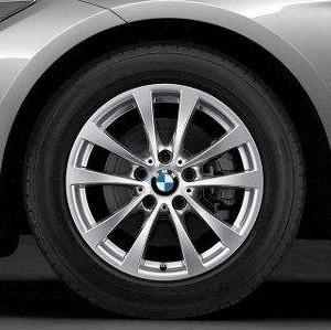 BMW Kompletträder V-Speiche 395 17 Zoll Silber 3er F30 F31 4er F32 F33 F36