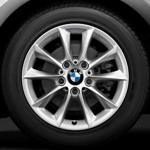 BMW Kompletträder V-Speiche 411 silber 16 Zoll 1er F20 F21 2er F22 F23