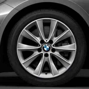 BMW Alufelge V-Speiche 425 8J x 18 ET 30 Bicolor (Silber / glanzgedreht) Vorderachse / Hinterachse BMW 7er F01 F02 F04 5er F07