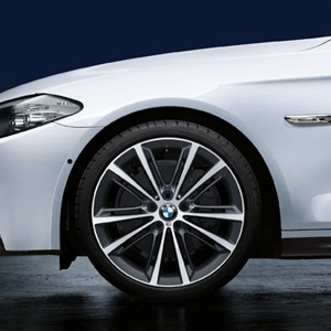 BMW Alufelge M V-Speiche 464 9J x 20 ET 44 Ferricgrey Hinterachse BMW 6er F06 F12 F13 5er F10 F11