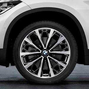 BMW Alufelge V-Speiche 573 bicolor (schwarz / glanzgedreht) 8J x 19 ET 47 Vorderachse / Hinterachse X1 F48