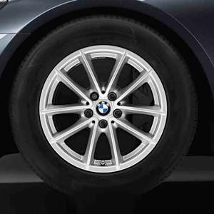 BMW Alufelge V-Speiche 618 silber 7,5J x 17 ET 27 Vorderachse / Hinterachse BMW 5er G30 G31 7er G11 G12