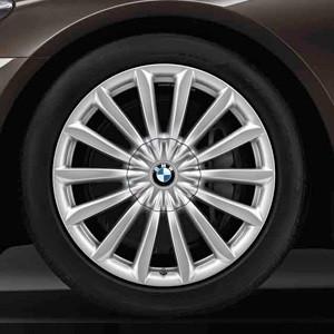 BMW Winterkompletträder V-Speiche 620 silber 19 Zoll 7er G11 G12 RDCi