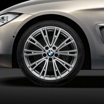 BMW Alufelge V-Speiche 626 8J x 19 ET 36 glanzgedreht Vorderachse für 3er F30 F31 4er F32 F33 F36