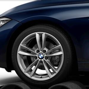 BMW Winterkompletträder V-Speiche 658 reflexsilber 18 Zoll 3er F30 F31 4er F32 F33 F36 RDCi