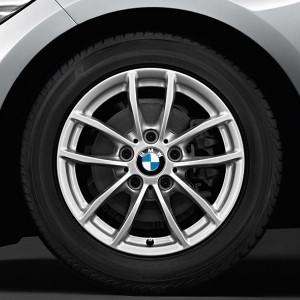 BMW Winterkompletträder V-Speiche 378 silber 16 Zoll 1er F20 F21 2er F22 F23