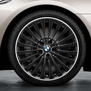 BMW Alufelge Vielspeiche 410 9J x 20 ET 44 Bicolor (Schwarz / glanzgedreht) Hinterachse BMW 6er F06 F12 F13 5er F10 F11