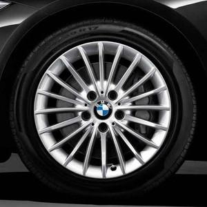 BMW Alufelge Vielspeiche 414 7,5J x 17 ET 37 Silber Vorderachse / Hinterachse für 3er F30 F31 4er F32 F33 F36