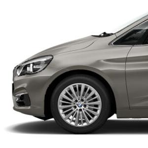BMW Alufelge Vielspeiche 481 reflexsilber 7,5J x 17 ET 54 Vorderachse / Hinterachse BMW 2er F45 F46