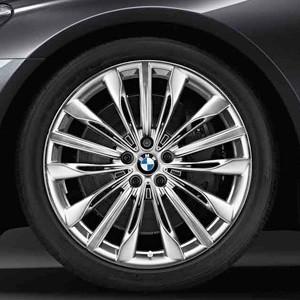 BMW Alufelge W-Speiche 646 poliert 8,5J x 20 ET 25 Vorderachse BMW 7er G11 G12