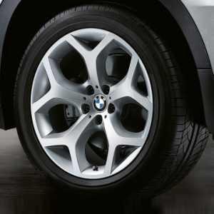 BMW Kompletträder Y-Speiche 214 silber 20 Zoll X5 E70 E70LCI F15 X6 F6