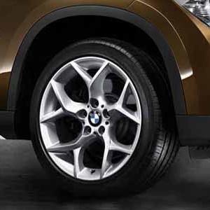 BMW Alufelge Y-Speiche 322 9J x 18 ET 41 Silber Hinterachse BMW X1 E84