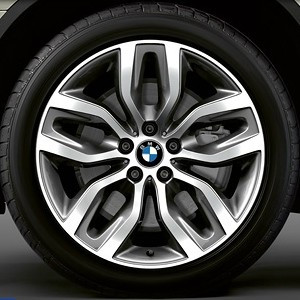 BMW Kompletträder Y-Speiche 337 20 Zoll Bicolor (ferricgrey / glanzgedreht) X5 E70 F15 X6 F16