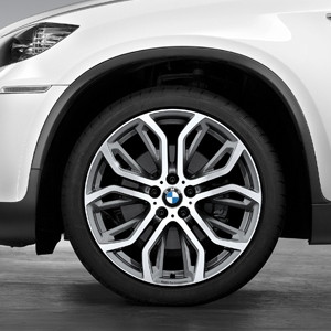 BMW Kompletträder Y-Speiche Performance 375 bicolor (ferricgrey / glanzgedreht) 21 Zoll X5M E70 X6 E71 (inkl. X6 M)