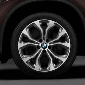 BMW Alufelge Y-Speiche 451 bicolor (ferricgrey/glanzgedreht) 11J x 20 ET 37 Hinterachse X5 F15 X6 F16