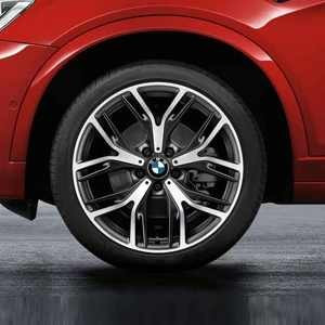 BMW Kompletträder Y-Speiche 542 bicolor (schwarz matt / glanzgedreht) 20 Zoll X3 F25 X4 F26 RDC LC