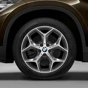 BMW Alufelge Y-Speiche 569 bicolor (orbitgrey / glanzgedreht) 7,5 J x 18 ET 51 Vorderachse / Hinterachse X1 F48