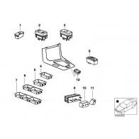 Original BMW E36 Cabrio Blende Gurtaustritt rechts OEM 51438176284