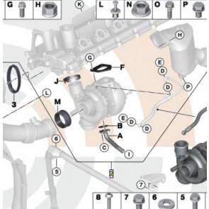 BMW Turbolader Anbausatz 1er E81 E87 E88 3er E90 E91 5er E60 E61 X3 E83