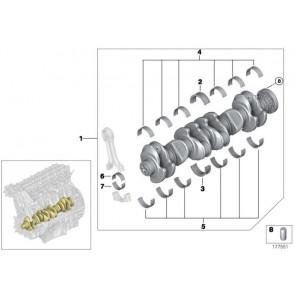 Austausch Kurbelwelle mit Lagerschalen  3er 4er 5er 6er 7er X3 X4 X5 X6  (11217809375)