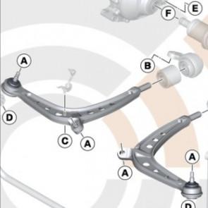 BMW Querlenker Reparatursatz 3er E46 Z4 E85 E86