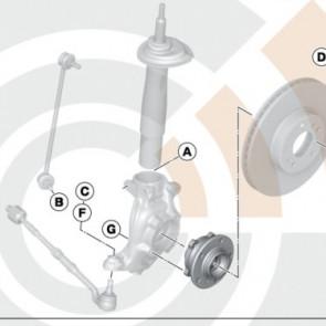 BMW Radlager Service Kit vorne 5er E39