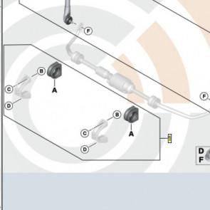 BMW Gummilager Stabilisator Reparatursatz X3 E83 LCI