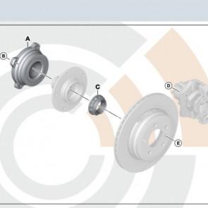 BMW Radlager Reparatursatz hinten 5er E60 E616er E63 E64