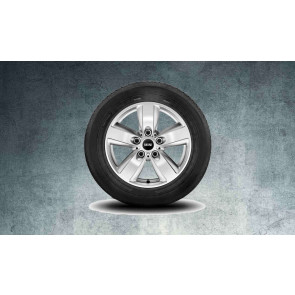 MINI Alufelge 5-Star Air Spoke silber 140 6,5J x 16 ET 46 Vorderachse / Hinterachse MINI R60 R61