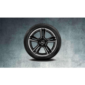 MINI Alufelge 5 Star Double Spoke R127 7,5J x 18 ET 52 Schwarz Vorderachse / Hinterachse MINI R60 R61