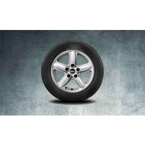 MINI Alufelge 5 Star Single Spoke R122 6,5J x 16 ET 46 Silber Vorderachse / Hinterachse MINI R60 R61