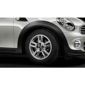 MINI Alufelge 5 Star Twin Spoke 118 5,5J x 15 ET 45 Silber Vorderachse / Hinterachse MINI R55 R56 R57 R58 R59