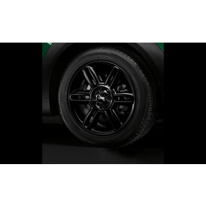 MINI Alufelge 6 Star Twin Spoke R119 6,5J x 16 ET 48 Schwarz matt Vorderachse / Hinterachse MINI R55 R56 R57 R58 R59