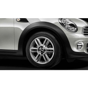 MINI Alufelge 6 Star Twin Spoke R119 6,5J x 16 ET 48 Silber Vorderachse / Hinterachse MINI R55 R56 R57 R58 R59