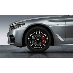 BMW Alufelge Aerodynamik 1001l bicolor (jet black uni / glanzgedreht) 9J x 20 ET 44 Hinterachse 5er G30 G31