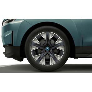 BMW Alufelge Aerodynamik 1010 bicolor (gunmetal grey / glanzgedreht) 9J x 21 ET 36 Vorderachse / Hinterachse iX i20