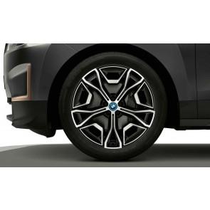 BMW Alufelge Aerodynamik 1021 bicolor (frozen midnight / glanzgedreht) 9,5J x 22 ET 37 Vorderachse / Hinterachse iX i20